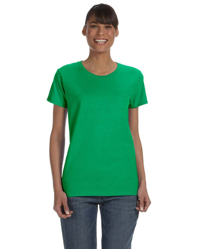 g500l-ladies-heavy-cotton-5-3-oz-t-shirt-small-medium-Small-IRISH GREEN-Oasispromos