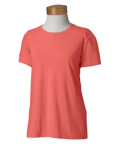 g500l-ladies-heavy-cotton-5-3-oz-t-shirt-small-medium-Small-CORAL SILK-Oasispromos