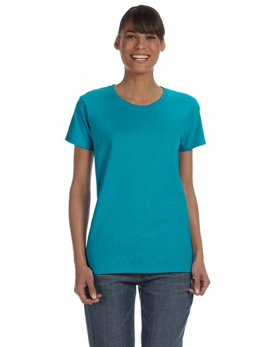 g500l-ladies-heavy-cotton-5-3-oz-t-shirt-large-xl-Large-TROPICAL BLUE-Oasispromos