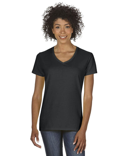 g500vl-ladies-heavy-cotton-5-3-oz-v-neck-t-shirt-small-large-Small-BLACK-Oasispromos