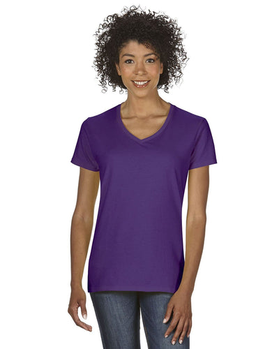 g500vl-ladies-heavy-cotton-5-3-oz-v-neck-t-shirt-small-large-Small-PURPLE-Oasispromos