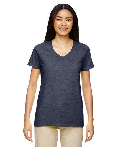 g500vl-ladies-heavy-cotton-5-3-oz-v-neck-t-shirt-small-large-Small-HEATHER NAVY-Oasispromos