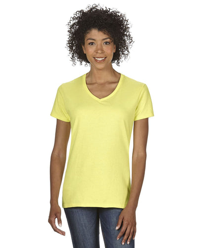 g500vl-ladies-heavy-cotton-5-3-oz-v-neck-t-shirt-small-large-Small-CORNSILK-Oasispromos