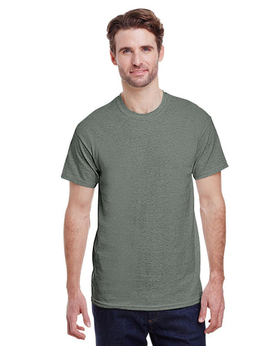 g500-adult-heavy-cotton-5-3oz-t-shirt-small-Small-HTHR MILITRY GRN-Oasispromos