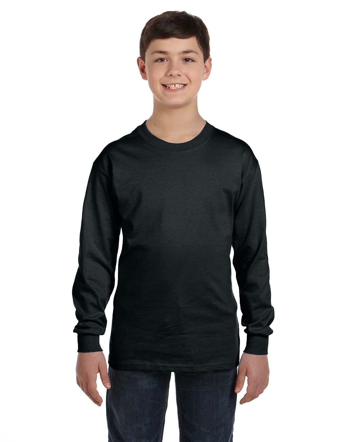g540b-youth-heavy-cotton-5-3oz-long-sleeve-t-shirt-XSmall-BLACK-Oasispromos