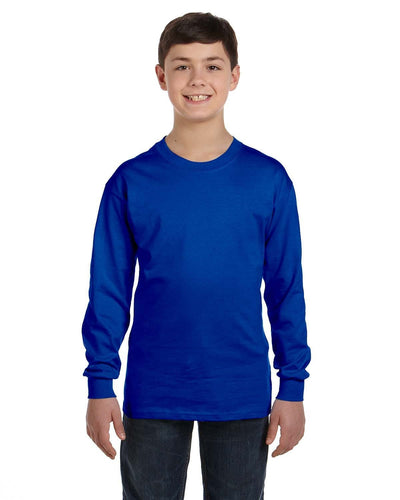 g540b-youth-heavy-cotton-5-3oz-long-sleeve-t-shirt-XL-CAROLINA BLUE-Oasispromos