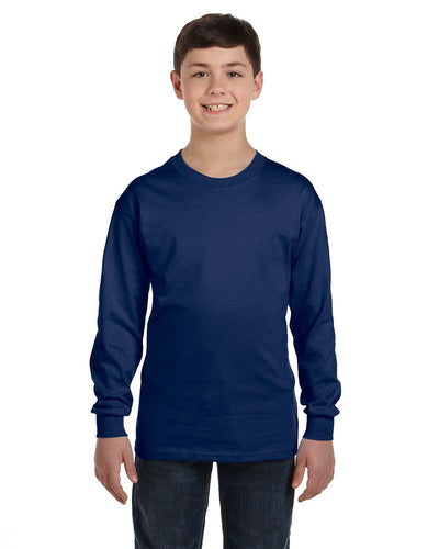 g540b-youth-heavy-cotton-5-3oz-long-sleeve-t-shirt-Small-CAROLINA BLUE-Oasispromos