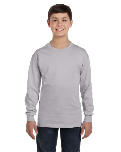 g540b-youth-heavy-cotton-5-3oz-long-sleeve-t-shirt-XSmall-FOREST GREEN-Oasispromos