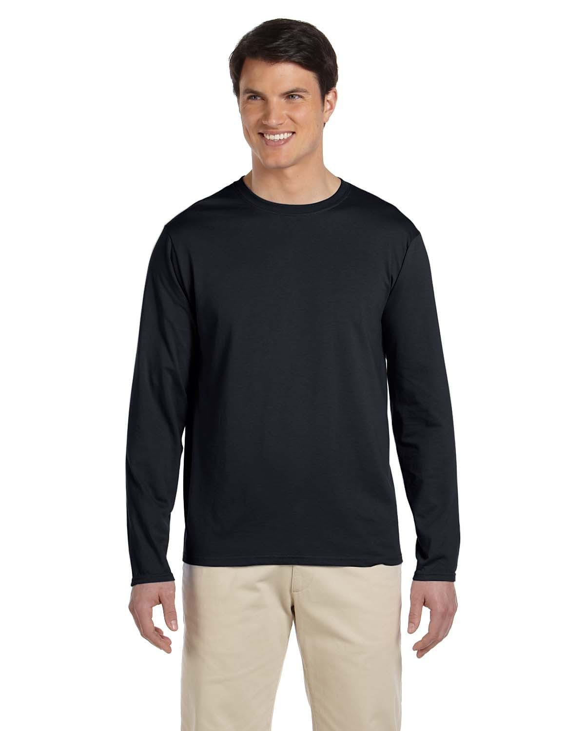 g644-adult-softstyle-4-5-oz-long-sleeve-t-shirt-Small-BLACK-Oasispromos