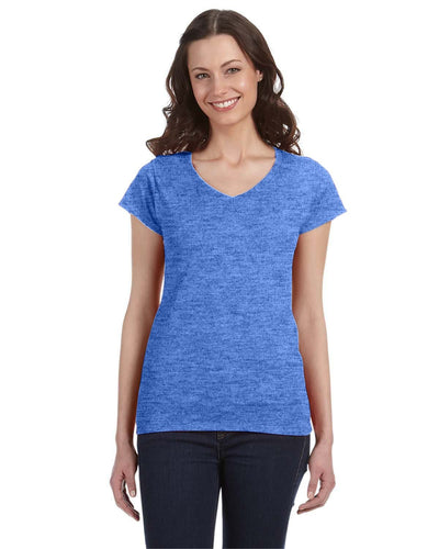 g64vl-ladies-softstyle-4-5-oz-fitted-v-neck-t-shirt-Small-BERRY-Oasispromos