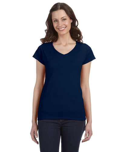 g64vl-ladies-softstyle-4-5-oz-fitted-v-neck-t-shirt-Large-BERRY-Oasispromos