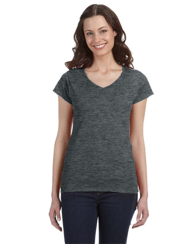 g64vl-ladies-softstyle-4-5-oz-fitted-v-neck-t-shirt-2XL-AZALEA-Oasispromos