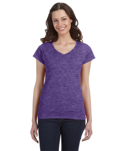 g64vl-ladies-softstyle-4-5-oz-fitted-v-neck-t-shirt-3XL-AZALEA-Oasispromos