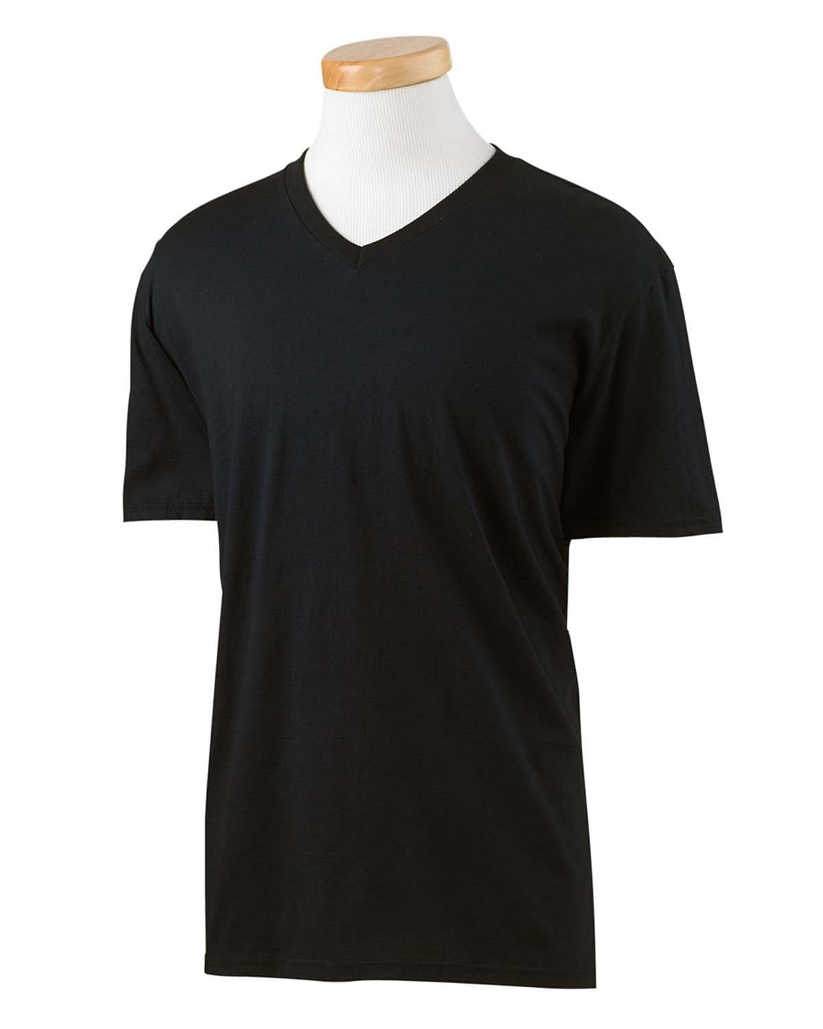 g64v-adult-softstyle-4-5-oz-v-neck-t-shirt-XSmall-BLACK-Oasispromos