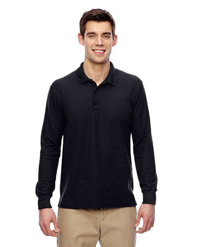 g729-adult-6-oz-double-piqu-long-sleeve-polo-Small-BLACK-Oasispromos