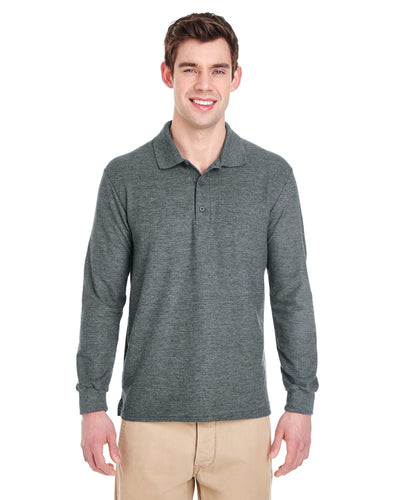g729-adult-6-oz-double-piqu-long-sleeve-polo-Medium-BLACK-Oasispromos