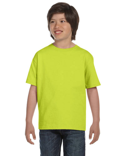 g800b-youth-5-5-oz-50-50-t-shirt-xsmall-XSmall-SAFETY GREEN-Oasispromos