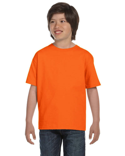 g800b-youth-5-5-oz-50-50-t-shirt-xsmall-XSmall-S ORANGE-Oasispromos