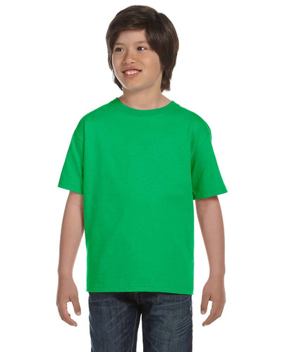g800b-youth-5-5-oz-50-50-t-shirt-large-xl-Large-ELECTRIC GREEN-Oasispromos