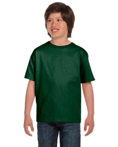 g800b-youth-5-5-oz-50-50-t-shirt-xsmall-XSmall-SPORT DARK GREEN-Oasispromos