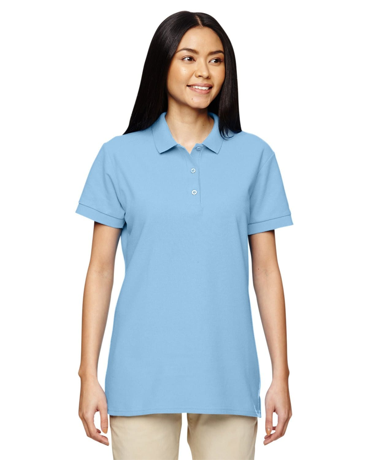 g828l-ladies-premium-cotton-ladies-6-6oz-double-piqu-polo-Small-BLACK-Oasispromos
