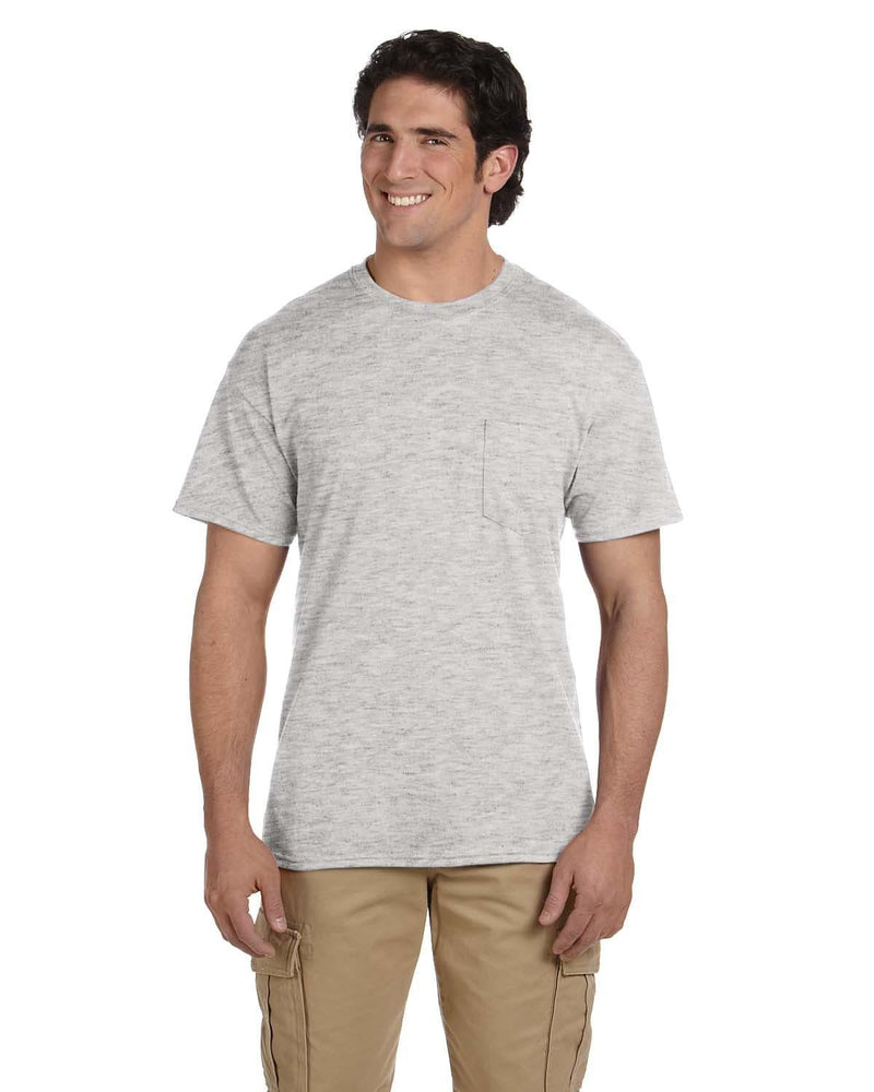 g830-adult-5-5-oz-50-50-pocket-t-shirt-Small-ASH GREY-Oasispromos