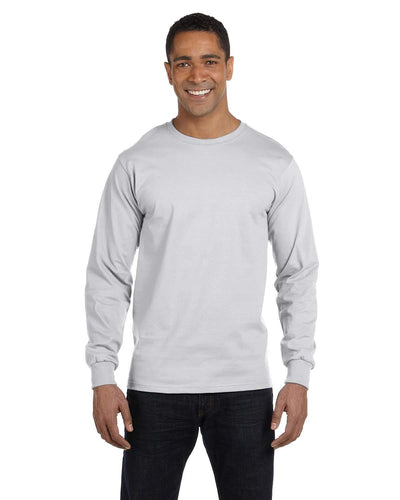g840-adult-5-5-oz-50-50-long-sleeve-t-shirt-Large-ASH GREY-Oasispromos