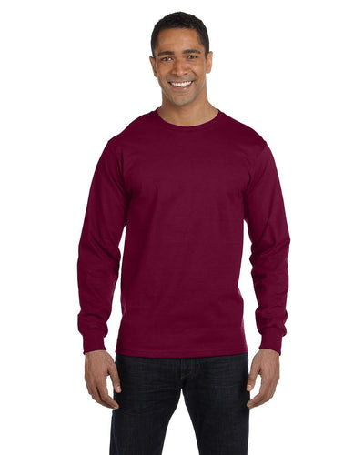 g840-adult-5-5-oz-50-50-long-sleeve-t-shirt-Large-BLACK-Oasispromos