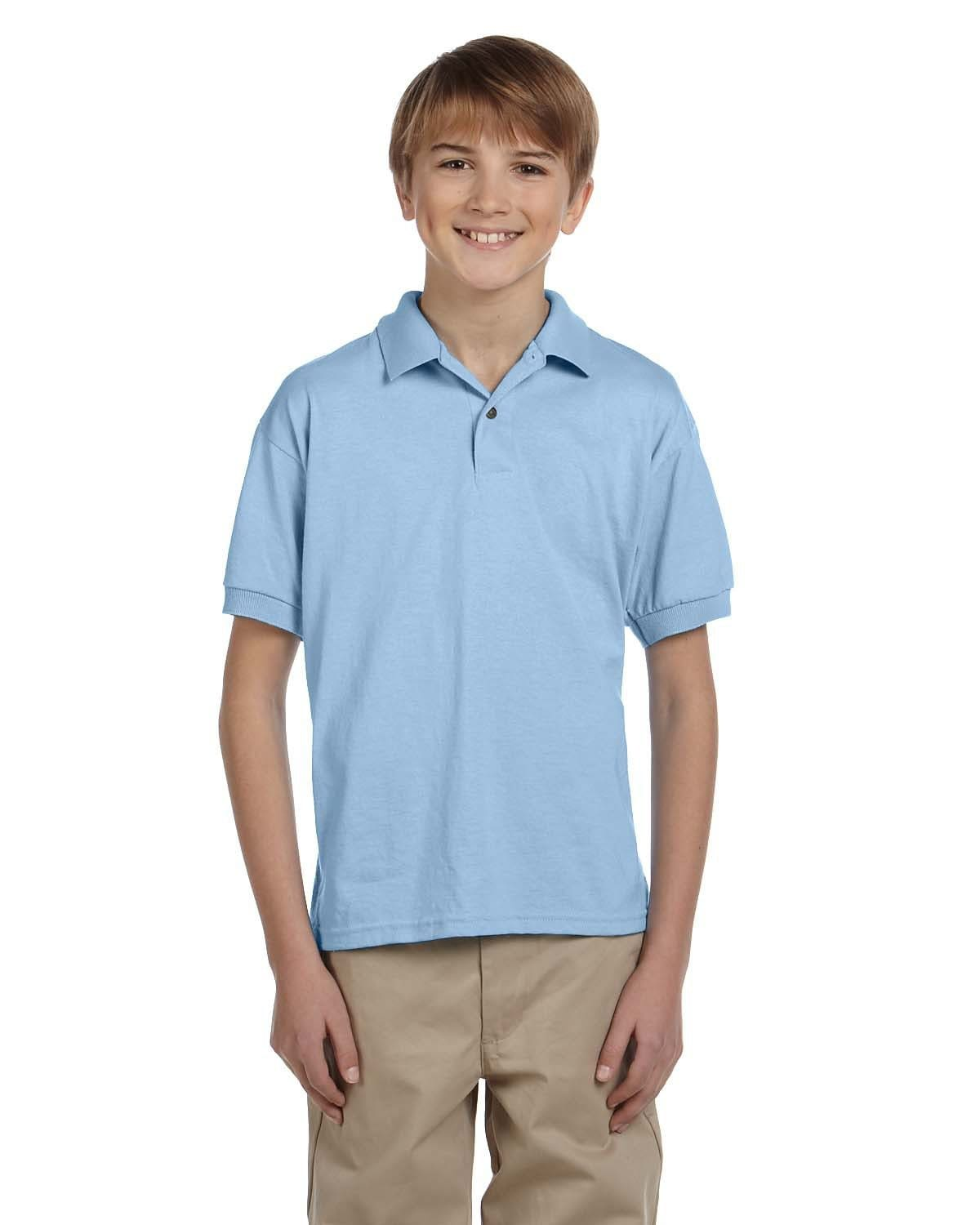 g880b-youth-6-oz-50-50-jersey-polo-Small-ASH GREY-Oasispromos