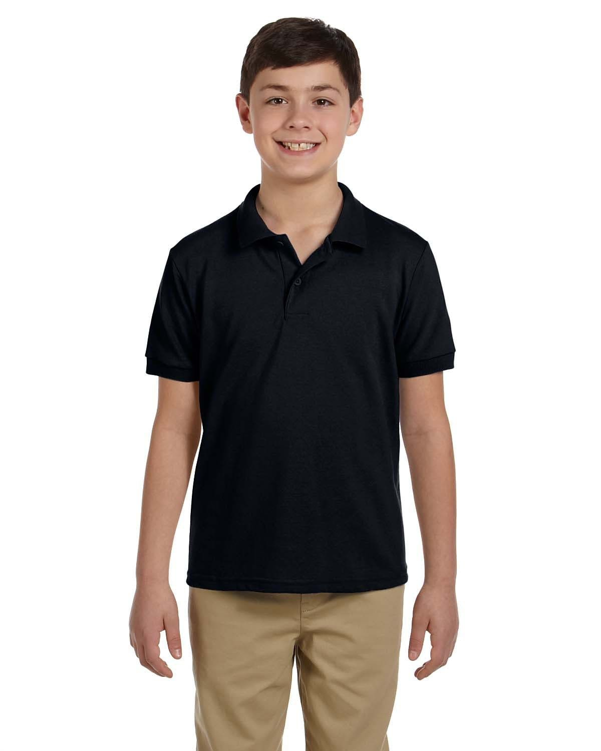 g948b-youth-6-8-oz-piqu-polo-XSmall-BLACK-Oasispromos