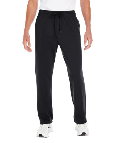 g994-adult-performance-7-oz-tech-open-bottom-sweatpants-withpockets-Small-BLACK-Oasispromos