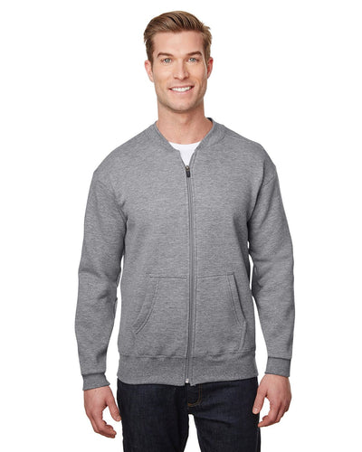 hf700-hammer-adult-9-oz-fleece-full-zip-jacket-XSmall-Graphite Heather-Oasispromos