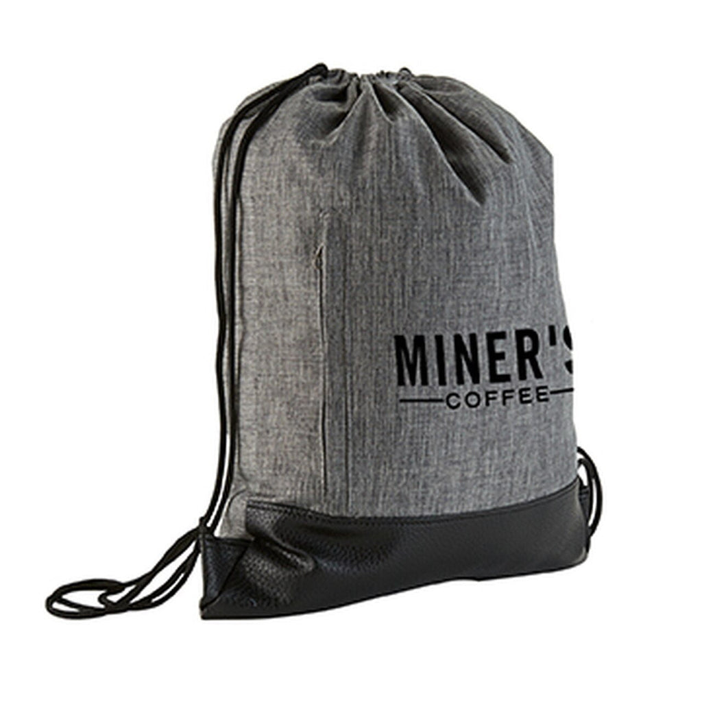 Heathered Drawstring Backpack - Oasis Promos
