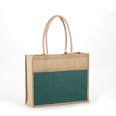 jb-902-all-natural-jute-2-tone-shopping-totes-Natural / Navy Blue-Oasispromos