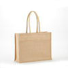 jb-902-all-natural-jute-2-tone-shopping-totes-Natural / Green-Oasispromos