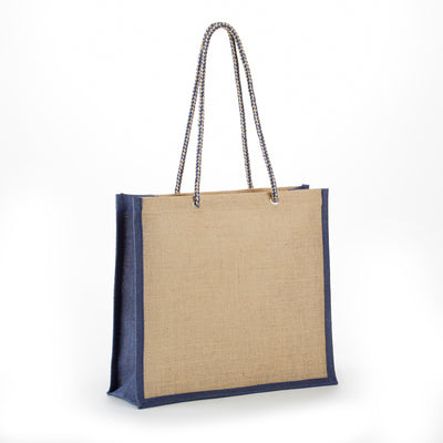 JB119 All Natural Jute Fashion Tote - Oasis Promos