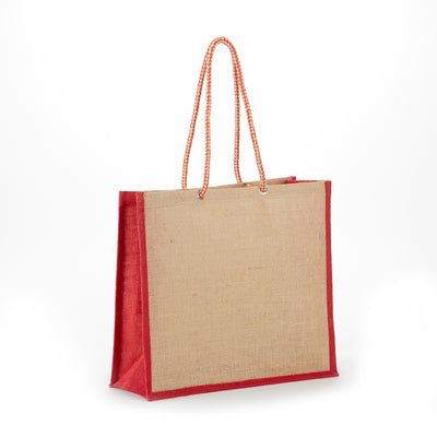 jb-119-all-natural-jute-fashion-tote-Natural / Forest Green-Oasispromos