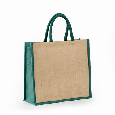 jb-913-all-natural-jute-grocery-tote-with-rope-handles-Natural / Navy Blue-Oasispromos