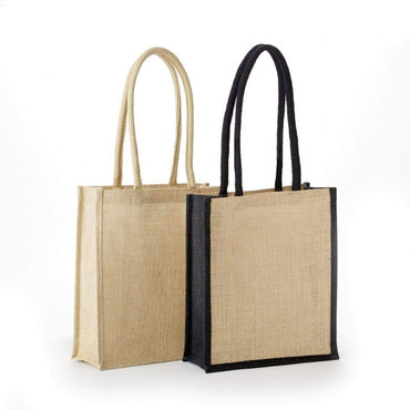 JB-6122 All Natural Jute/ Burlap Book Bag - Oasis Promos