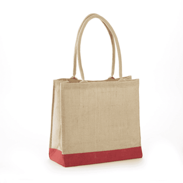 JB-908 All Natural Jute Economy Tote With Rope Handles - Oasis Promos