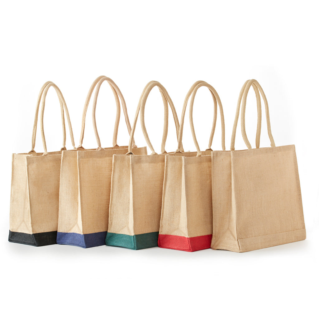 JB-908 All Natural Jute Economy Tote With Rope Handles