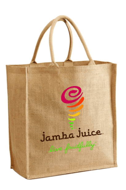 JC0074- Jute Shopping Tote With Cotton Webbed Handles - Oasis Promos