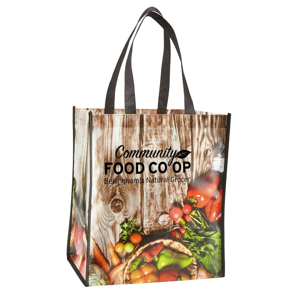 Laminated Grocery Tote - Black:9563.preview.jpg