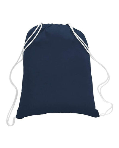 TFW4500L - Large Economical Drawstring Sport Pack / Cinch Bag - Navy:11133.preview.jpg