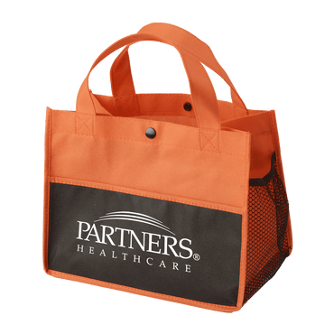 Mini Snap Non-Woven Lunch Tote - Orange:9805.preview.png