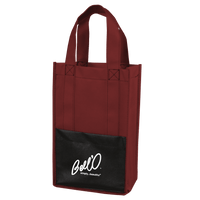 Modena Non-Woven Wine Tote - Burgundy:12043.preview.png