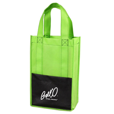 modena-non-woven-wine-tote-Lime Green-Oasispromos