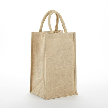JBWB4 Four Bottle Jute/ Burlap Wine Bag - Oasis Promos