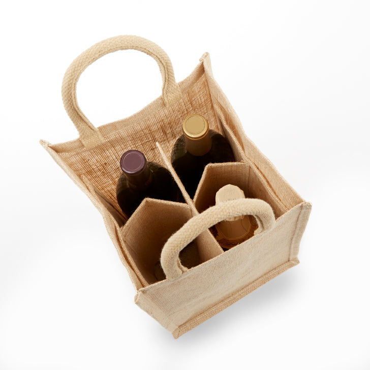 jb-wb4-four-bottle-jute-burlap-wine-bag-Solid Front-Oasispromos