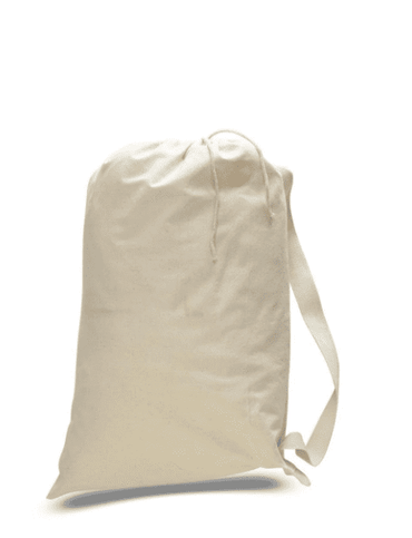 OPQLB Canvas Drawstring Bag - Natural Color Canvas - Medium